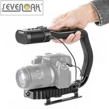 Sevenoak micrig universal video griff grip mit eingebaute mikrofon für iphone 7 smartphone gopro dslr kamera camcorder