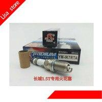 4pcs/lot Spark Plugs For Great Wall 1.5T engine special spark plug Iraurita YM IK7RTA