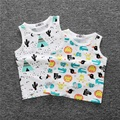 1-4y Children Vest Summer 2016 Fashion Bobo Choses Fruits Print Cotton T shirts for Baby Girls Boys Vest Sleeveless Kids Tee Top