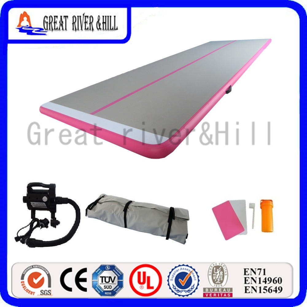 great river hill gymnastic mat inflatable air track durable mat pink 8m x 18m x 15cm