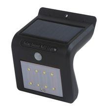 Alta Calidad 8/16 Luces Solares LED Al Aire Libre Accionado Solar Del Sensor de Movimiento de Pared de Luz de Seguridad (Negro) de Verano Al Aire Libre de Iluminación
