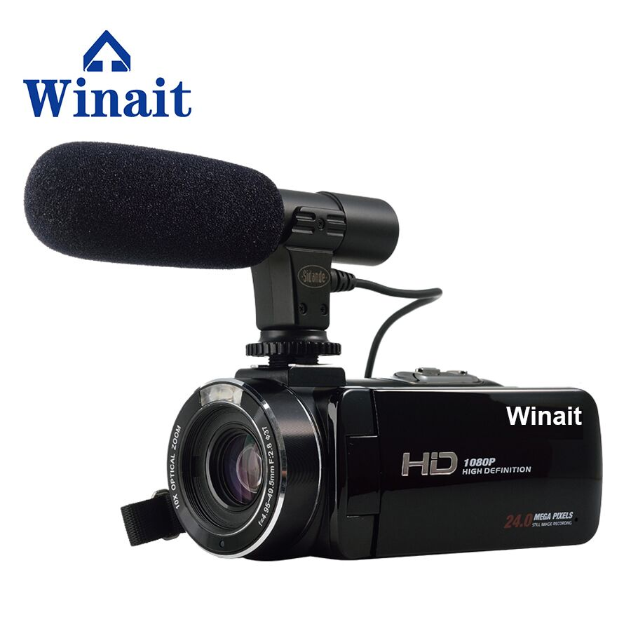 2017 Professional Digital Video Camera Fotografica HDV-Z20 24Mp 1080P HD H.264 3.0 Touch Display WIFI Cam Microphone Interface