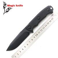 MAGIA ZT 0180 D2 faca de lâmina fixa G10 alça bainha acampamento tático faca de caça de sobrevivência ao ar livre ferramentas EDC facas
