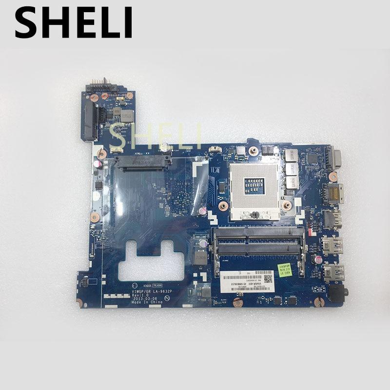 SHELI FOR Lenovo G500 Laptop Motherboard VIWGP/GR LA-9632P DDR3 HM76 11S90002833 90002833SHELI FOR Lenovo G500 Laptop Motherboard VIWGP/GR LA-9632P DDR3 HM76 11S90002833 90002833