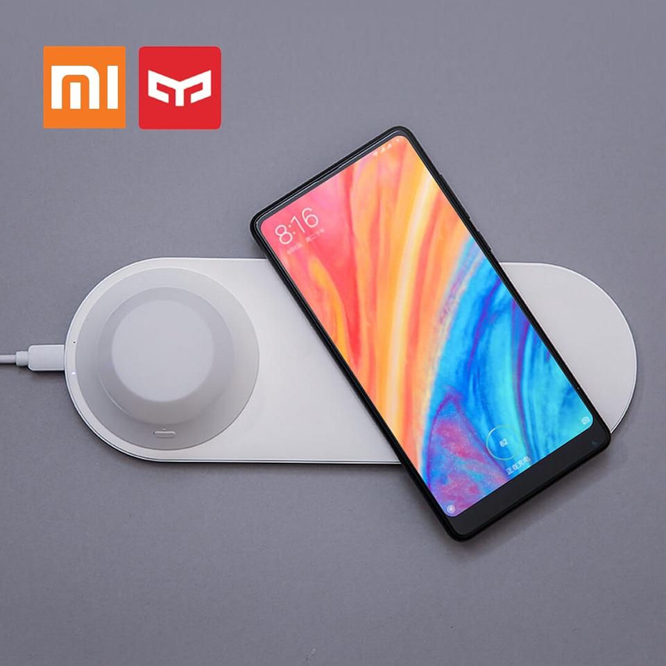 D'origine Xiaomi Mijia Yeelight Sans Fil Rapide Chargeur Téléphone Charge Rapide Magnétique Attraction LED Nuit Lumière pour Iphone X Samsung