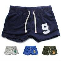 Newest Mens Cotton Gym Shorts Men Sport Pants Lounge Trunk Boxer Shorts Brief Lounge Underwear S