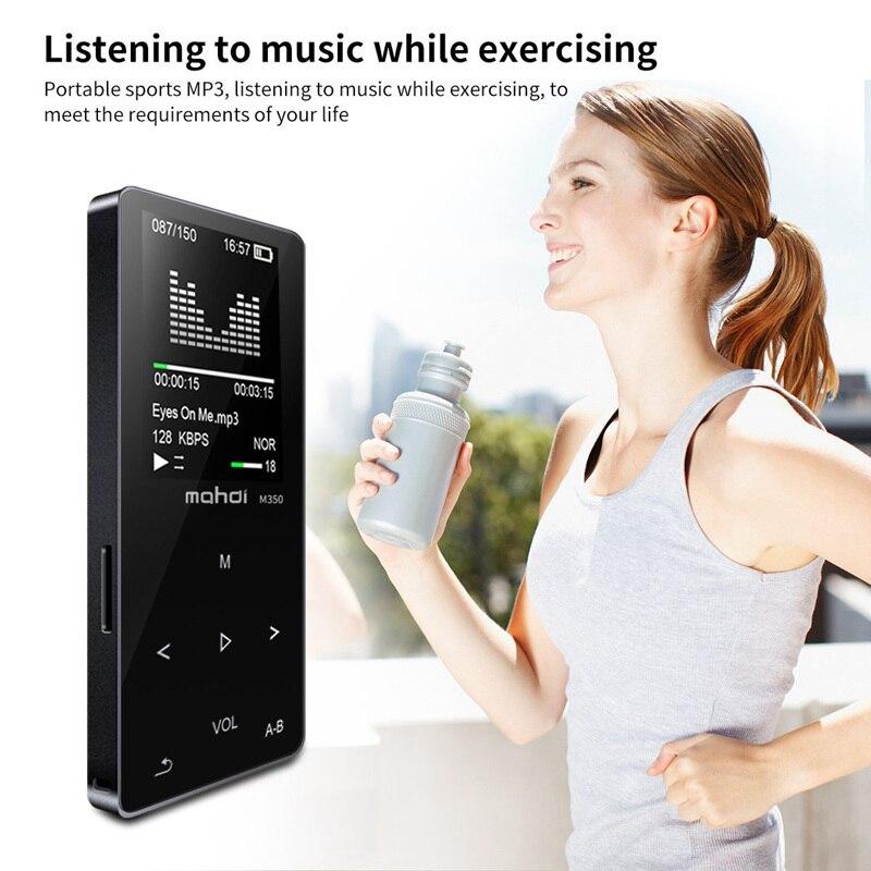 Nouveau métal Bluetooth Sport MP3 lecteur Portable Audio 8GB avec haut-parleur intégré FM Radio APE Flac lecteur de musique (noir) #5