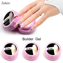 Zation Camouflage Jelly Nail Extension UV Builder Gel Transparent Clear Nude Color Nail Varnish Lacquer French Nail Art Primer