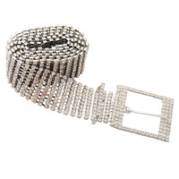 Unique Hippie Bling Rhinestone Belt Crystal Pin Buckle Waist Band Adjustable Chain Women Body Chain Jewelry for women gift