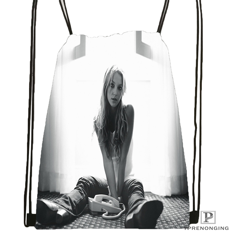 Custom Britney Photoshoot Drawstring Backpack Bag For Man Woman Cute Daypack Kids Satchel (Black Back) 31x40cm#180531-01-29