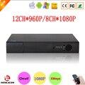XMeye Hisiclion Chip de Metal Caso 12CH 960 P Câmera IP Onvif NVR 8CH Vigilância Gravador De Vídeo de 8 Canais 1080 P frete Grátis
