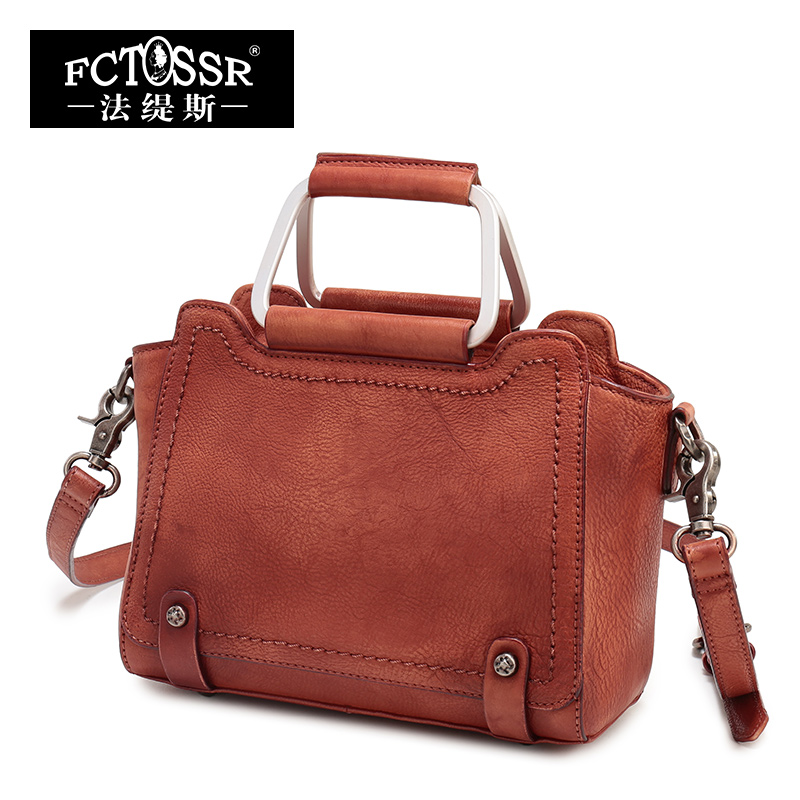 Handbags Small Women Purse Genuine Leather Bag Rivet Cow Leather Shoulder Bag Vintage Messenger Bag Crossbody Bag Women Handbag women shoulder bag cossbody handbag genuine first layer of cow leather 2017 korean diamond lattice chain women messenger bag