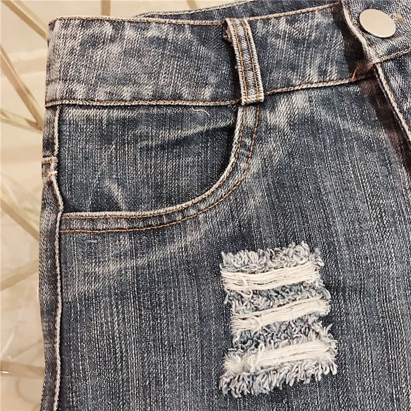Hot New Style Summer Sexy Women Cool Hole Denim Jeans Fashion Hole Pockets Mini Shorts Jean For Women Girls 40MA07 (25)