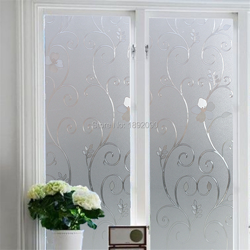2017 Wide 45 60 90cm Frosted Privacy Glass Window Film Static Cling  Adhesive Embossed Window Sticker Home Decor Toilet Mirror. Cling Window Stickers Promotion Shop for Promotional Cling Window