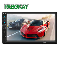 7018B 2 Din 7 Touch Screen Car MP5 Player Audio Stereo FM Radio Bluetooth MP3 Player Support TF Multimedia Player