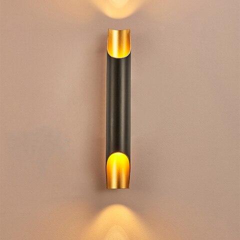 luz de parede moderna lampada led para cima para baixo ac100v 220 v aluminio nordic