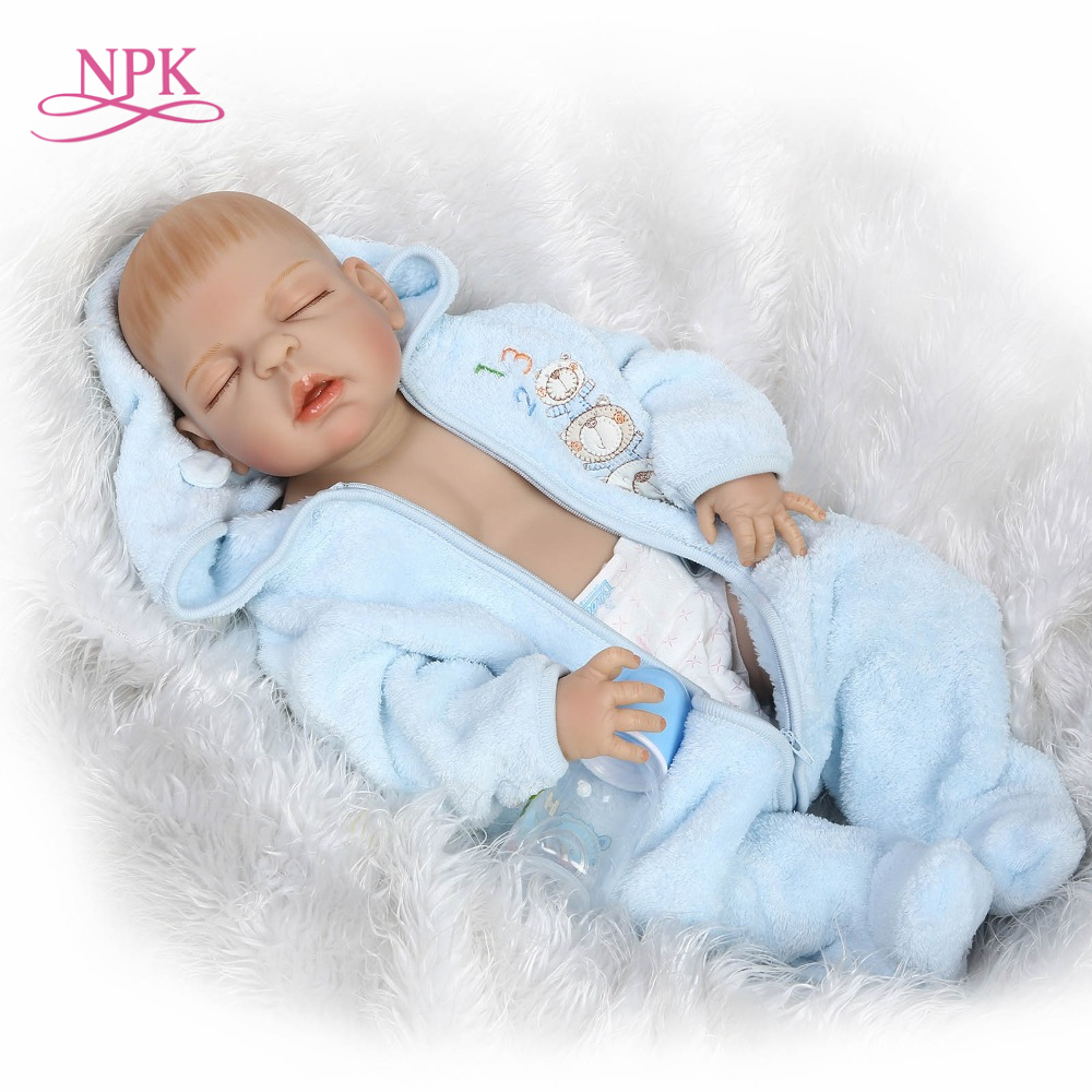 57cm 23inch realistic handmade reborn baby full vinyl doll sleeping baby doll baby paying toys for