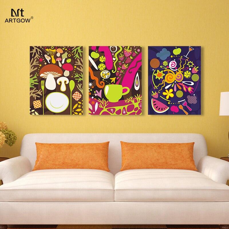 Abstract Wonderland Children living room decoration Food Graffiti ...