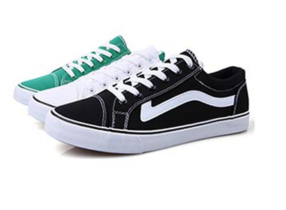 Prix pour Classique Planche À Roulettes Chaussures Hommes Sneakers Skate Chaussures Toile Matériel Low Cut Chaussures Durable Confortable Souple Sneaker Noir Blanc