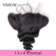 Loose Wave Lace Frontal Closure 13*4 Remy 8-20 Inch Natural Color VSHOW Hair Products 100% Human Extensions
