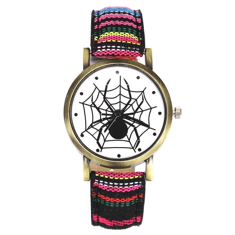 Pelottava musta hämähäkki web hyönteisten suunnittelu kellot - Miesten kellot - Valokuva 4