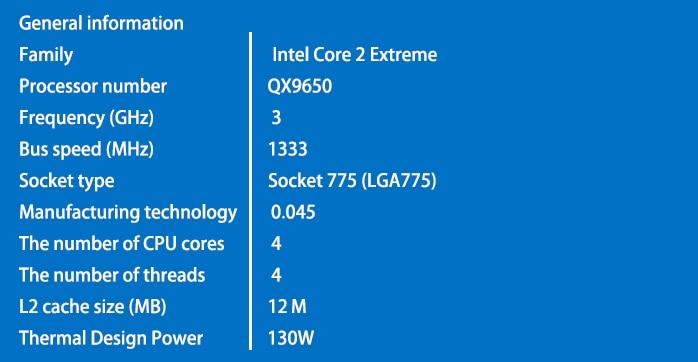 intel core 2 quad QX9650 Desktop CPU / 3.0G / 12MB Cache / LGA 775 / - Համակարգչային բաղադրիչներ - Լուսանկար 3