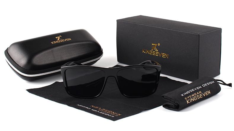 KINGSEVEN Brand Vintage Style Sunglasses Men UV400 Classic Male Square Glasses Driving Travel Eyewear Unisex Gafas Oculos S730 3