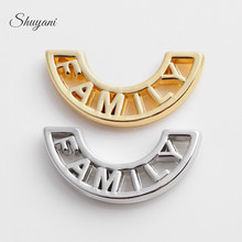 SHUYANI (20pcs/lot) Alloy Metal Plate Charms Moon Shape Floating Family Charms fit Magnetic Glass Locket