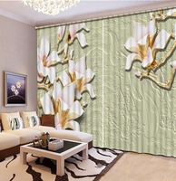 Luxury Home Curtains Custom 3D Curtain Embossed flower Curtains For Bedroom Modern Curtains Blackout Window Living Room
