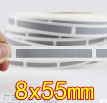 8x55MM - Sliver Gray Scratch coating film scratch card stickers-1000pcs /roll