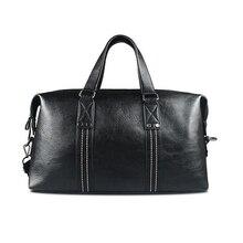 Men Handbags 2016 New Men's Dress Bags Rivet Stripped Business Bag Leather Bolsa High Quality
