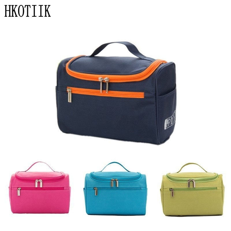 Women's Men's Large Waterproof Cosmetic Bag Travel Cosmetic Bags Organizational Requirement Cosmetics Toilet Bag(China)