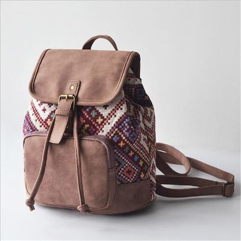 Printing Backpack Rucksack Shoulder-Bag Canvas Teenagers Women Mochilas Femininas