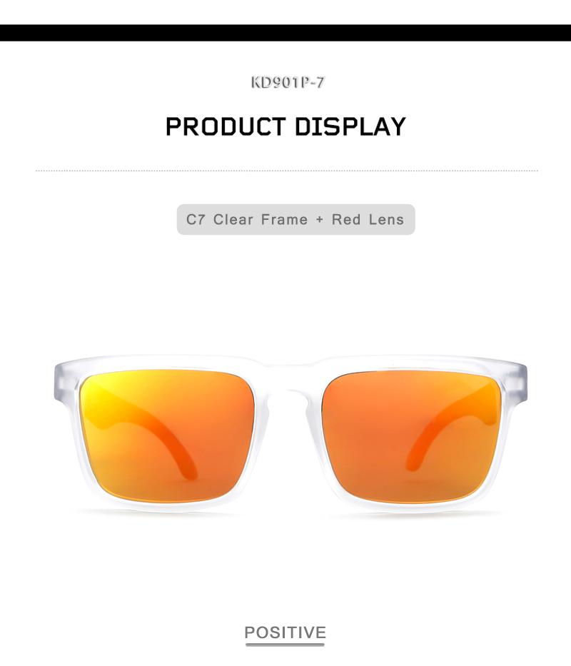 a4e4cf0bc5 KDEAM 2017 New sunglasses men polarized Square Frame Sun Glasses Cool  Orange Design HD lens UV400 With Original Case KD901P-C7. C7 800-5 banner  SIZE NO7 01 ...