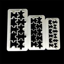 VOGVIGO 3 pcs Geometry Puzzle Shaped Biscuit cookie cutter cake mold Dessert Fondant decorating tools Baking Moulds