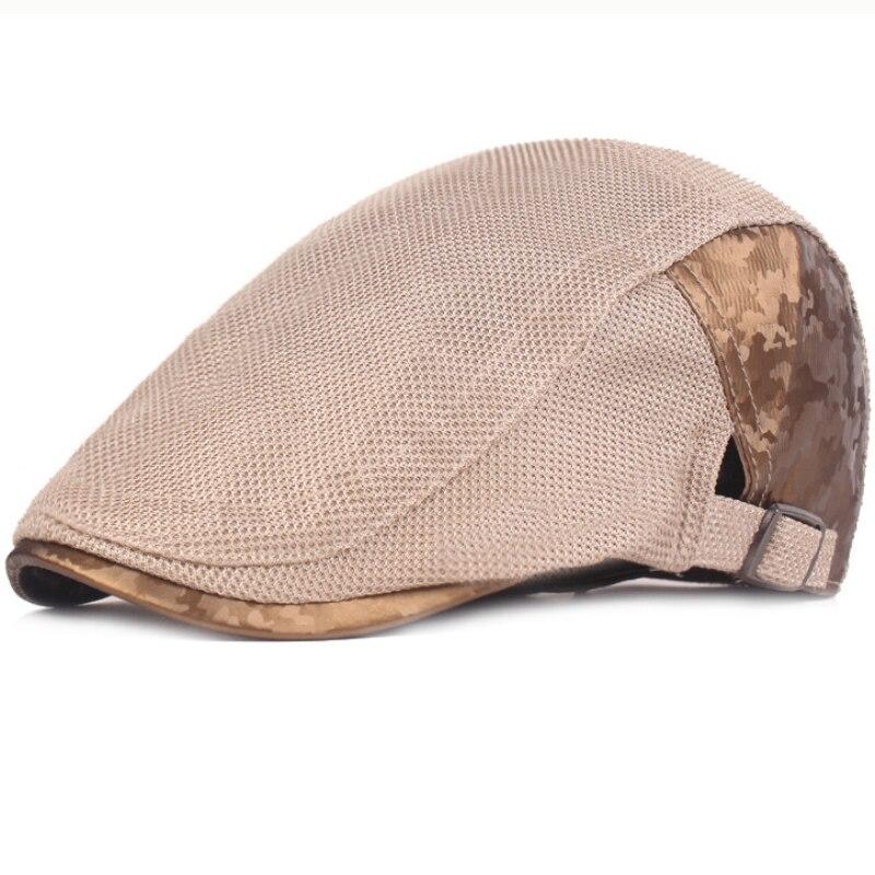 HT2413 New Beret Cap Spring Summer Men Women Cap Adjustable Newsboy Ivy Flat Cap Breathable Mesh Cap Hats for Men Women Berets in Men 39 s Berets from Apparel Accessories
