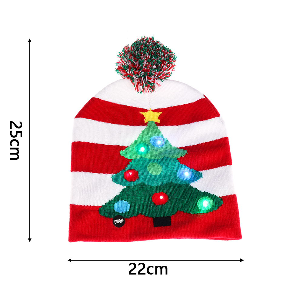2018 Winter Led Christmas Cap Beanies Christmas Sweater Tree Beanie
