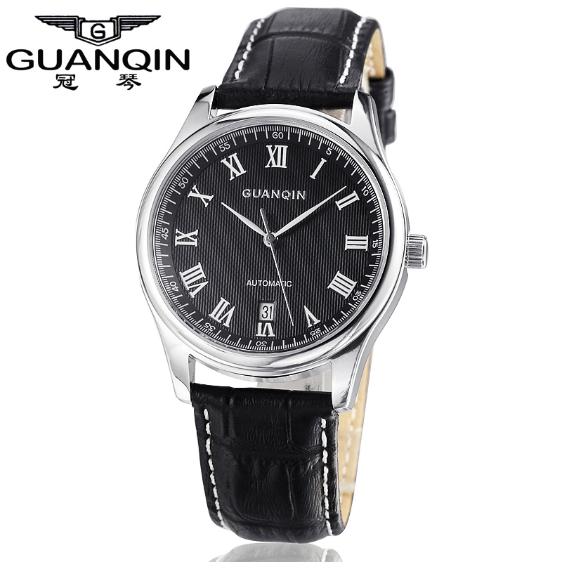 Top Brand GUANQIN Men Watch Top Famous Brand Mechanical Watch Luxury Waterproof Watches Leather Watches Relogio Masculino Reloj 2016 luxury men watch original guanqin men mechanical watch with date waterproof dress men watches clock relogio masculino reloj
