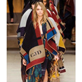 Bufandas de la Marca de Lujo británica Para Las Mujeres Bufanda Witer Caliente Patchwork Abrigo de Cachemir Chal de Lana Gruesa Del Cabo Mantón Largo Moda
