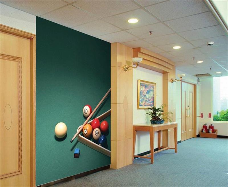 3D habitación de papel pintado personalizado mural no tejido pegatina de  pared moderno billar foto sofá TV Fondo pared foto papel tapiz para pared 3D 9ef526c9aa090