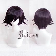 משחק חדש Danganronpa V3 Koukichi Kokichi אומה סגול Ombre שיער קצר פאה עמיד בחום סינטטי שיער פאות + פאה חינם כובע