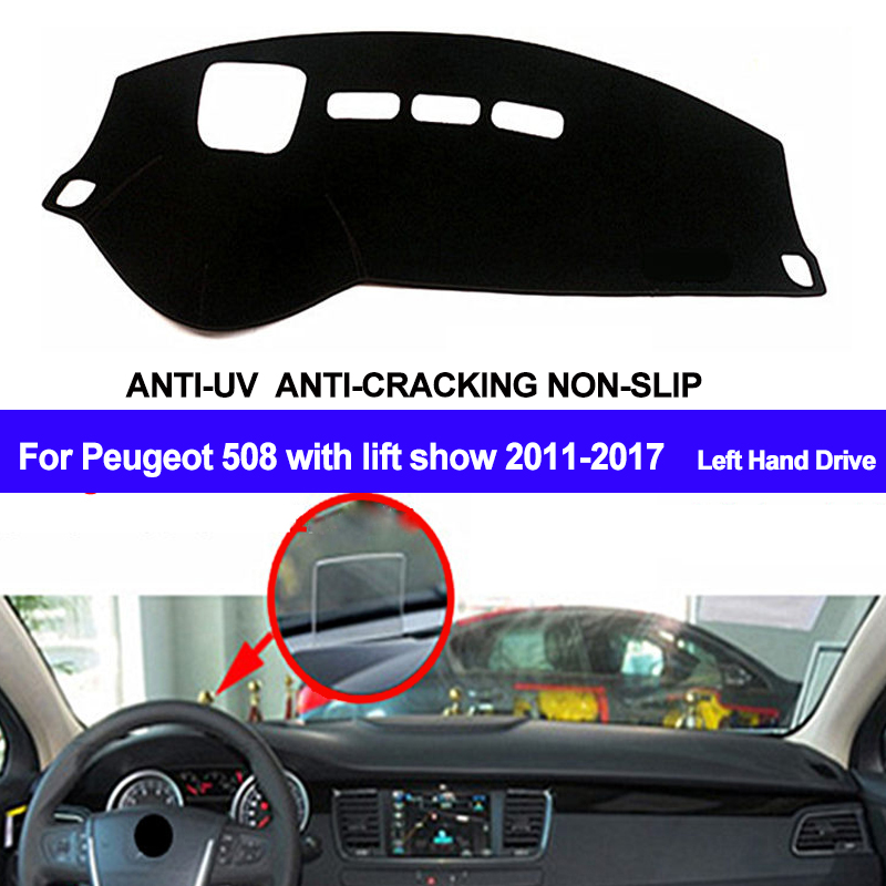 TAIJS Car Dashboard Cover Dash Mat Dash Board Pad Anti-UV For Peugeot 508 With Lift Show 2011 2012 2013 2014 2015 2016 2017