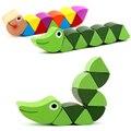 Novo brinquedo do bebê de madeira Transformable quente colorido a DIY educacional brinquedo inteligência desenvolver