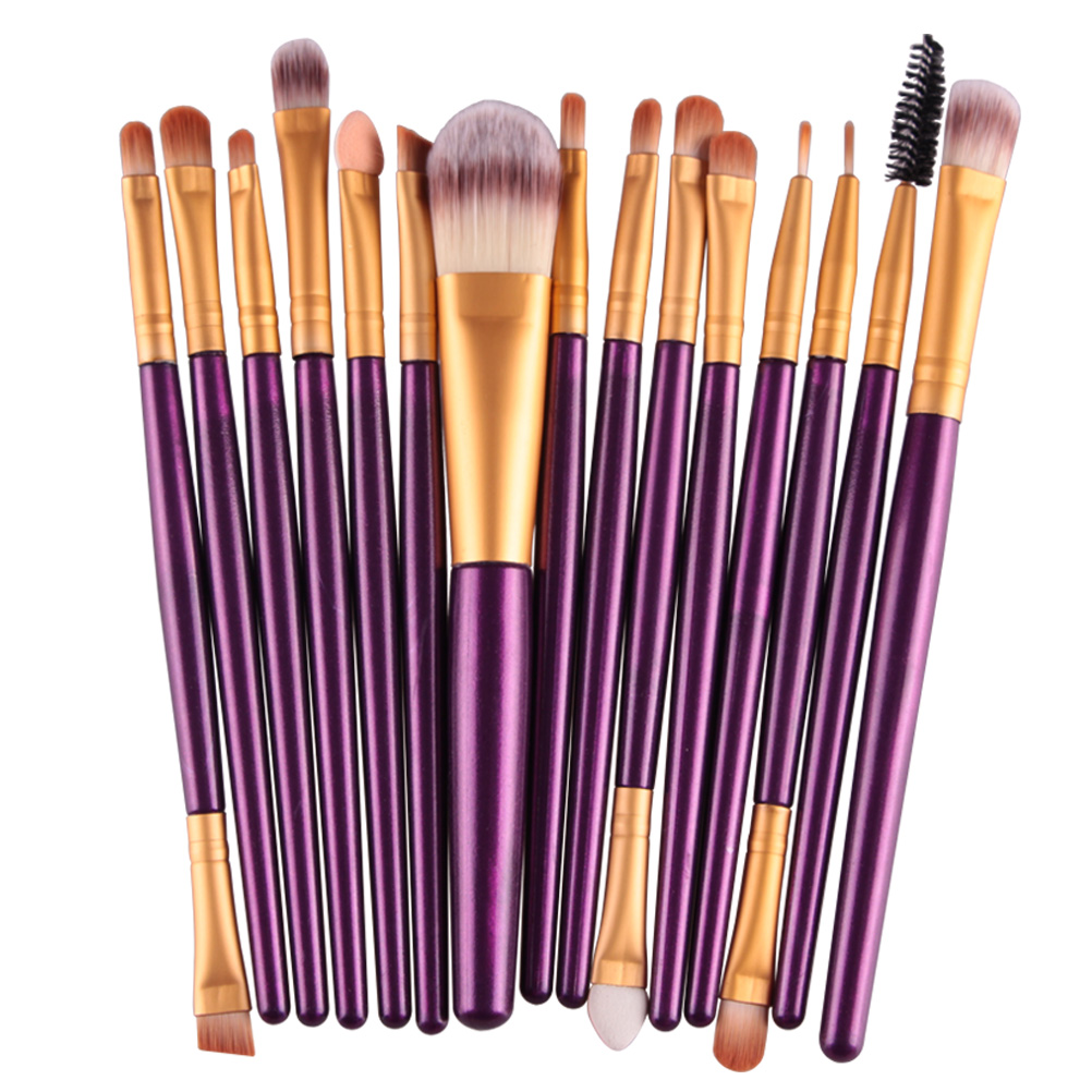 MAANGE Pro 15Pcs Foundation Eye Shadow Eyebrow Eyeliner Eyelash Lip Brush Makeup Brushes Cosmetic Tool Make Up Eye Brush Set Kit 20 pcs set makeup brushes set eye shadow foundation eyeliner eyebrow lip brush cosmetics tools kits beauty make up brush 2017
