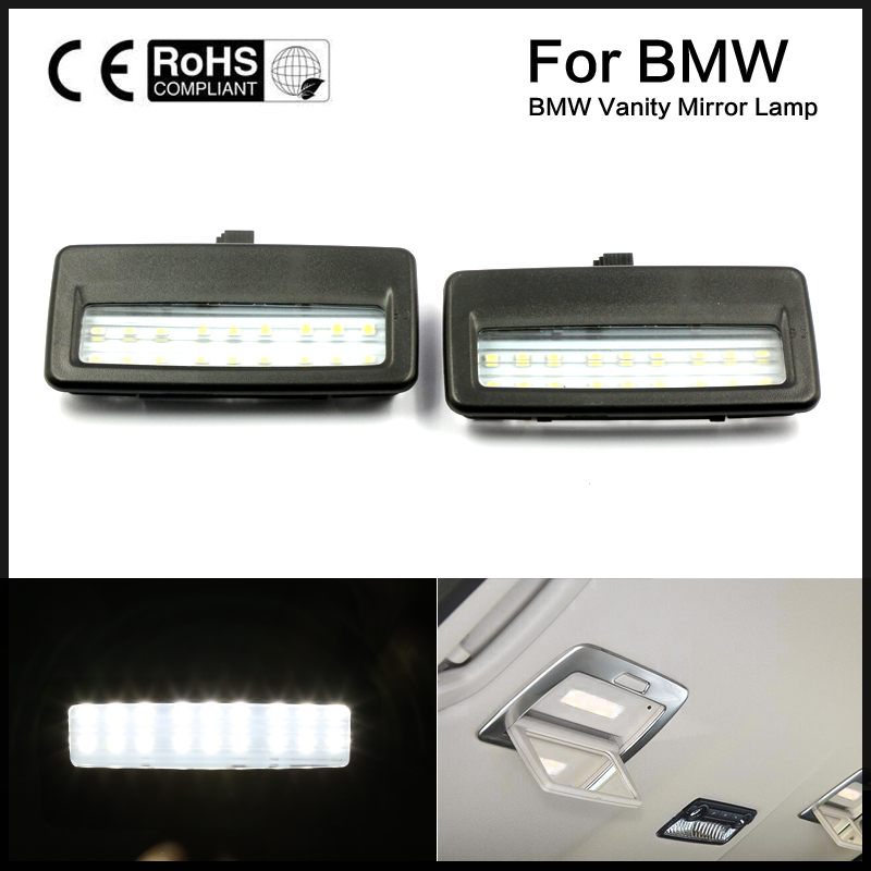 2pcs Error Free LED SMD vanity mirror visor light For Bmw F10 F11 F07 F01 F02 F03 ...