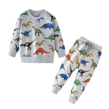 Children Winter Clothes Baby Boys Cartoon Clothing Sets Cute Rabbit Printed Warm Sweatsets for Baby Boys Girls Kids Clothes 5