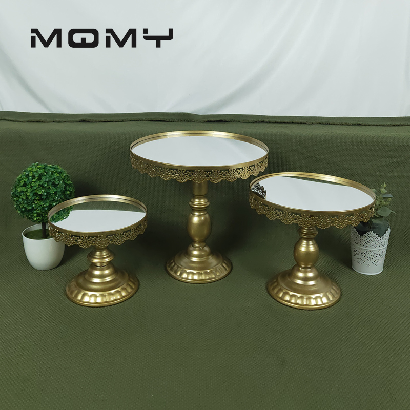 Gold Mirror wedding cake stand Metal cupcake stand Grand design baking love wedding party dessert table decoration in Party DIY Decorations from Home Garden