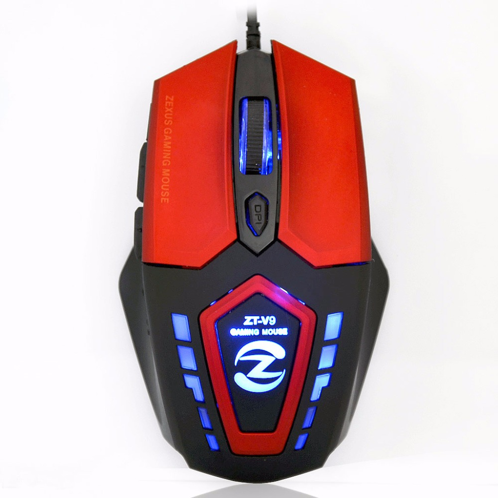 ZT-V9 Gaming Mouse Computer Gamer Mause 2400 DPI 6D USB Optical Sensor Wired Game Mice PC Peripherals Original - atolla Official Store store