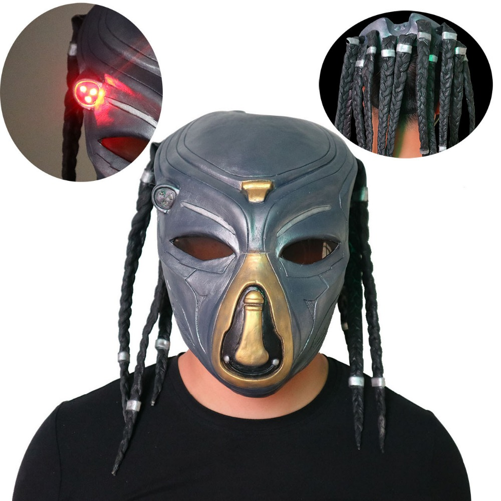 Predator A Lone Wolf  CS Protective Mask  Snipers Who Infrared With Lamp In the field Items Predator Mask Costume Overhead Latex