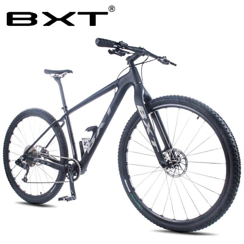 Livraison gratuite BXT 11 Vitesse Vtt 29-Pouces Full carbon cadre Double Freins À Disque 29er * 2.1 Pneu hommes Femmes Vélo